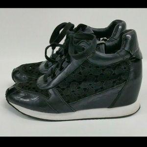 Ash Sz 7 37 Sneaker Leather Women's Dream Lace